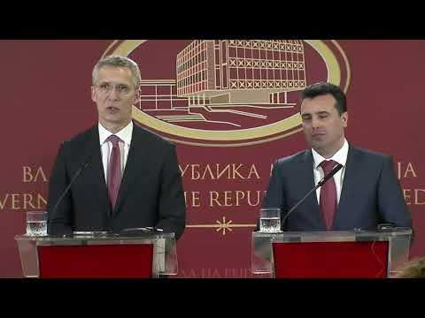NATO Secretary General visits former Yugoslav Republic of Macedonia, Joint Press Con