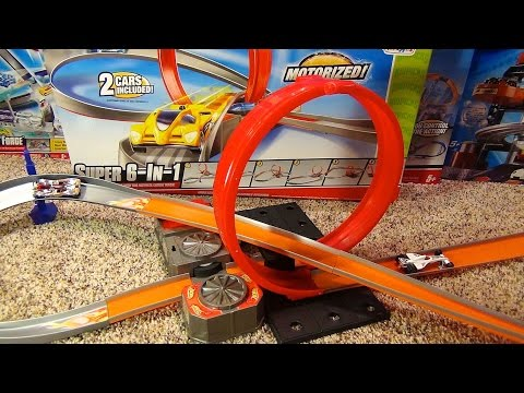 Hot Wheels Super 6-in-1 Stunt Track Set Toys Я Us Exclusive Review