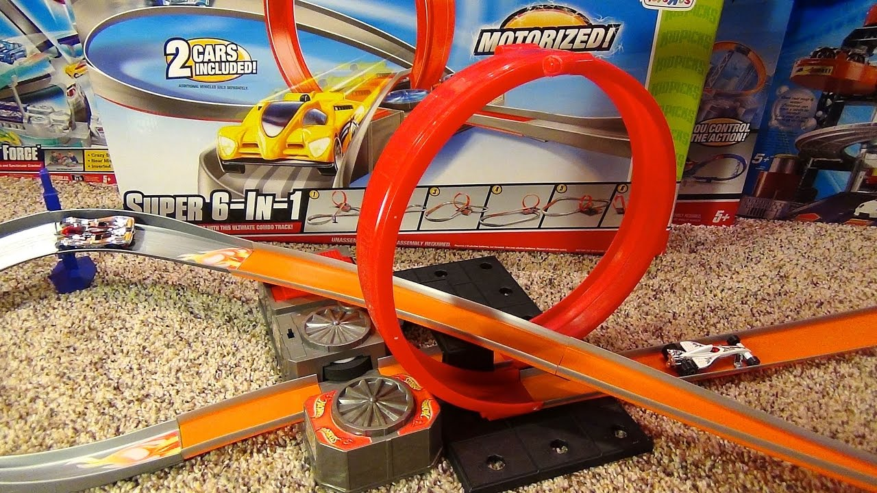 99a8d5b405c7f Hot Wheels Super 6-in-1 Stunt Track Set Toys Я Us Exclusive Review ...