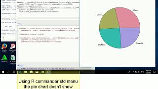 Erstellen Sie ein Kreisdiagramm, - R Commander