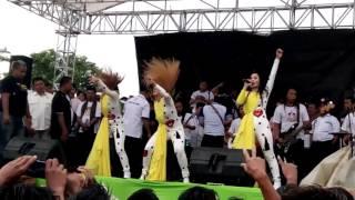 Trio macan kampanye subroto-nur yaman dan new pallapa