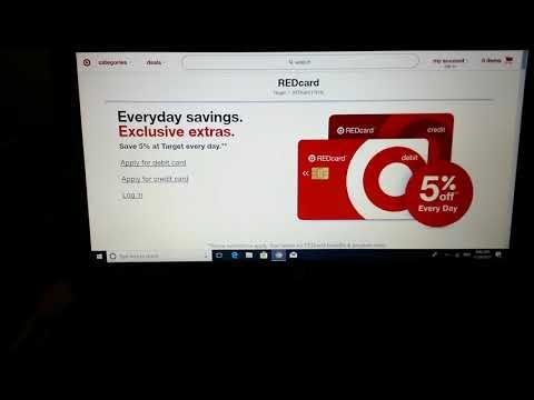 Target Red Card Debit/Credit Card PSA (Public Service Announcement)