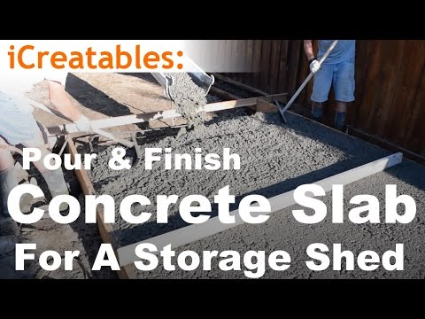 How To Pour A Concrete Slab For Your Storage Shed Floor