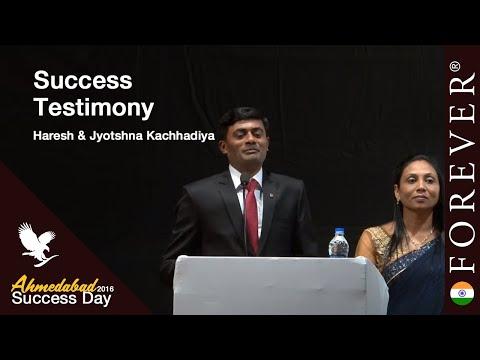 Business Testimony by Haresh & Jyotshna Kachhadiya at Ahmedabad Success Day