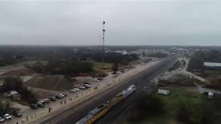 Bird's eye-view of George HW Bush funeral train