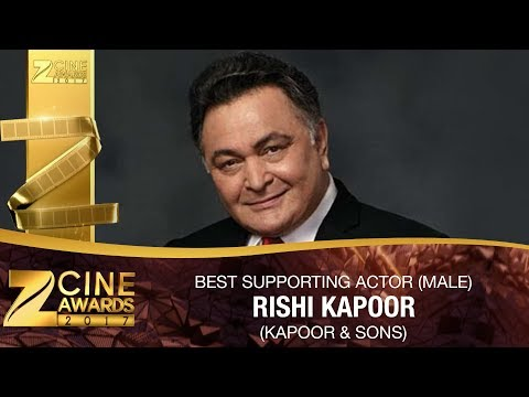 Rishi Kapoor for Kapoor And Sons | Best Supporting Actor Male | Zee Cine Awards 2017