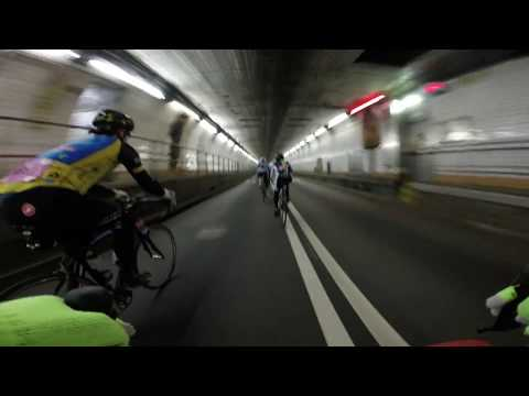 BikeMS NYC 2014 - First Into the Holland Tunnel
