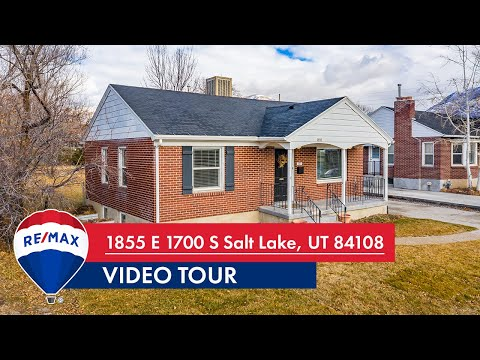 1855 E 1700 S Salt Lake, UT | Video Tour | Utah Homes for Sale