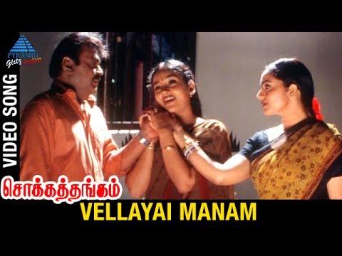 Chokka Thangam Tamil Movie Songs | Vellayai Manam Video Song | Vijayakanth | Soundarya | Deva