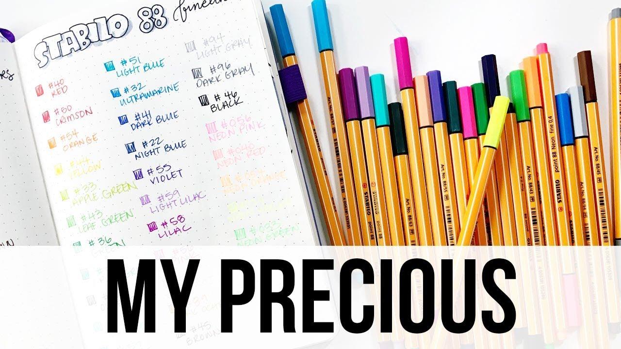 Set of 25 Stabilo Point 88 Wallet Fineliner Pens Multicolored