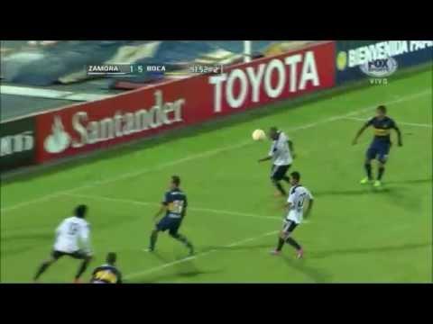 Zamora 1 - 5 Boca Juniors Copa Libertadores 2015