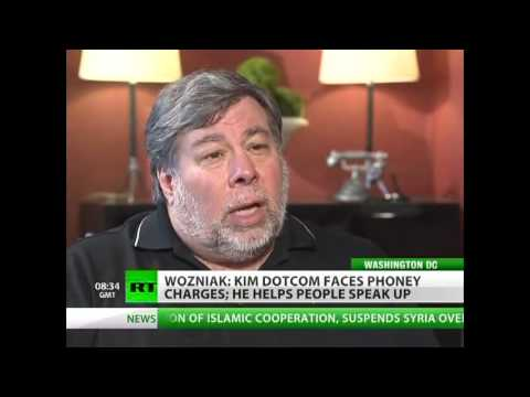 Wozniak on Kim Dotcom and the end of web freedom
