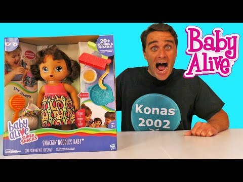 Snackin Noodles Baby Alive Eats Spaghetti Toy Review