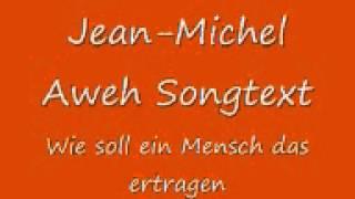 """Jean-Michel Aweh """"Wie soll ein Mensch das ertragen"""" (Lyric Video)"""