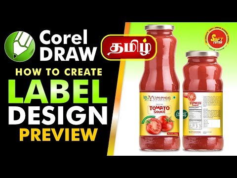 Label Design | Bottle Design Preview | Corel Draw In Tamil Tutorial | Soff Tutor | #LABEL DESIGN