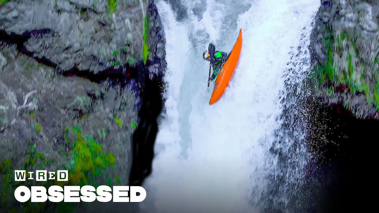 How This Guy Paddles Kayaks Over Massive Waterfalls | Obsessed