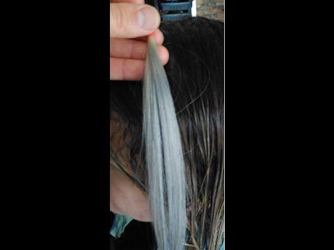 Gri Saç Rengi Nasıl Yapılır Boya Formülü Ile Youtube
