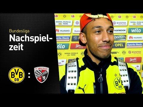 Pierre-Emerick Aubameyang nach dem Sieg gegen Ingolstadt | BVB - FC Ingolstadt 1:0