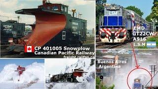 挑戰新聞軍事精華版 海嘯來襲 當火車遇上積水小心變成落湯雞 除雪的終極武器 加拿大剷雪火車