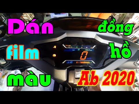 Dán Màu Đồng Hồ Xe Ab 2020   Dán film Màu Đồng Hồ Cho Xe Honda Air Blade 2020 Siêu Đẹp