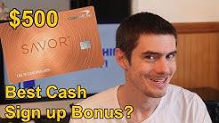 Capital One Savor Card: the Best Cash back Sign up Bonus?