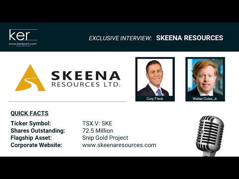 Interview with Skeena Resources President and CEO Walter Coles, Jr.