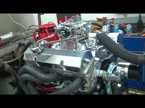 SBC 521HP 421 ENGINE DYNO RUN FOR BILL HALL BY WHITE PERFORMANCE AND MACHINE