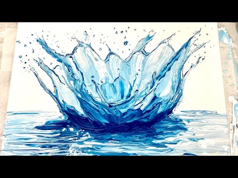 (239) SPLASH! Swipe - Fluid Acrylic Paint Pouring - Flow Art
