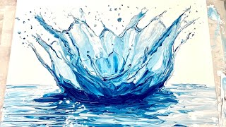 (239) SPLASH! Swipe - Fluid Acrylic Paint Pouring - Flow Art