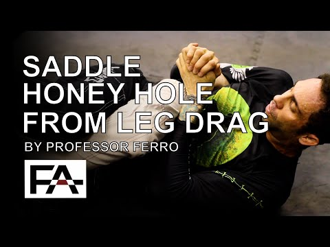 BJJ No Gi with Professor Ferro   Saddle Honey Hole from Leg Drag