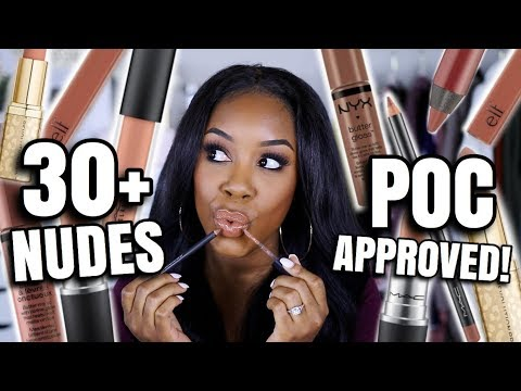 OVER 30 DRUGSTORE AND HIGH END NUDE LIP PRODUCTS I CAN'T LET GO OF! | Andrea Renee thumbnail