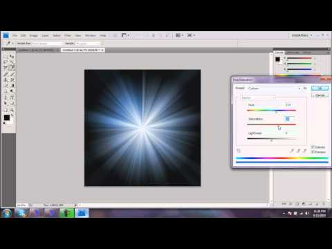 Photoshop Tutorial-Star Burst
