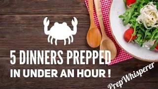 I Prepped 5 WW Friendly Dinners - Under an hour LIVE on Facebook with the 5 Dinners in 1 Hour System