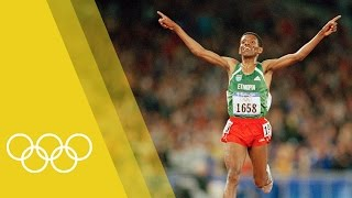 Haile Gebrselassie - 10,000m Olympic Champion at Sydney 2000