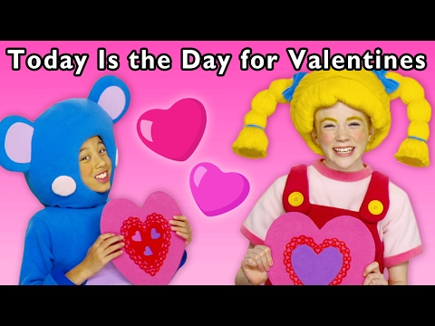 Heart Craft Party | Today Is the Day for Valentines and More | Baby Songs from Mother Goose Club!