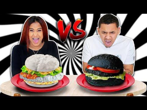 WHITE VS BLACK FOOD CHALLENGE!