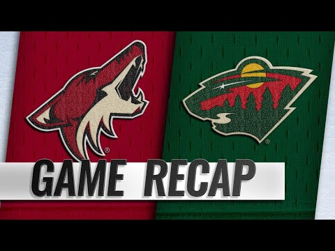Staal, Dubnyk lead Wild to 2-1 win vs. Coyotes