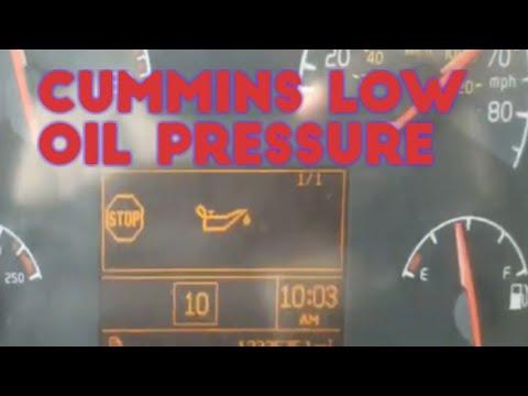 ISX CUMMINS LOW OIL PRESSURE