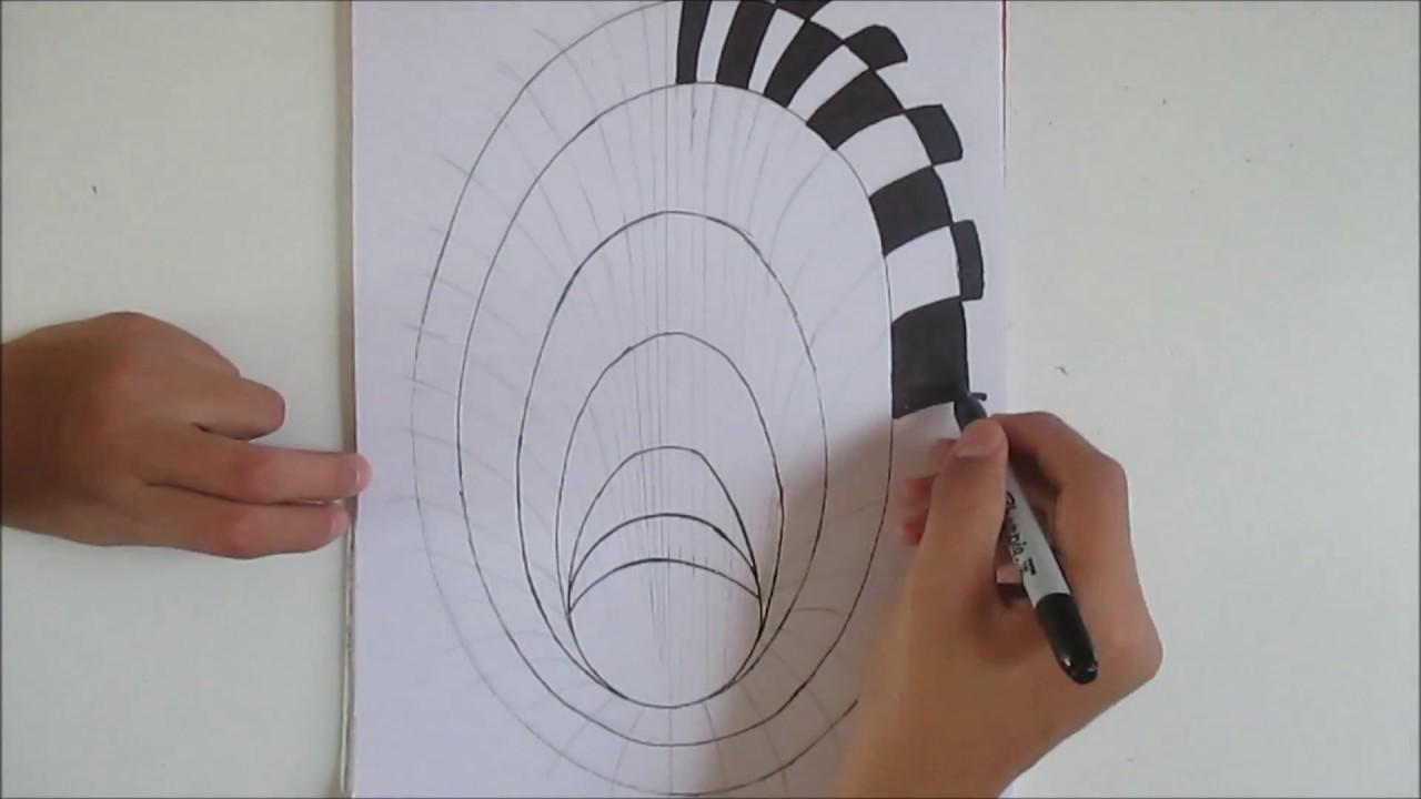 Como dibujar un agujero hoyo en 3d how to draw a hole 3d for Dibujar un mueble en 3d