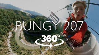 Прыжок с BUNGY 207 в Скайпарк Сочи. VR 360