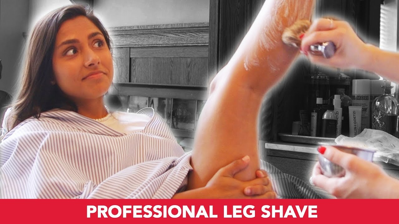 I Got My Legs Professionally Shaved By A Barber - YouTube