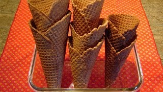 Chocolate Waffle Ice Cream Cones by Diane Lovetobake