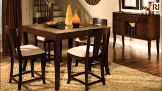 Counter Height Table With 4 Stool Laguna-count-dining-set By Standard Furniture