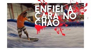 Cai de CABEÇA Surfando na Onda Artificial | Adventure Fair | Surf Dicas
