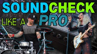How To Soundcheck a Band Like a Pro ✔ | Tips for Musicians, Singers & Drummers