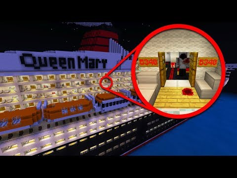 STAYING OVERNIGHT ON QUEEN MARY SHIP ROOM B340 IN MINECRAFT