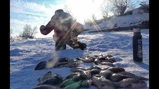 ЗА ТАКИМИ КАРАСЯМИ СТОИЛО ЕХАТЬ!!! Леска трещит!Рыбалка 2019,Крупный карась.Последний лед.