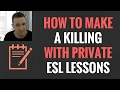 How To Stack Cash With Private ESL English Lessons and Part Time Classes