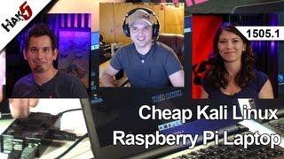 Cheap Kali Linux Raspberry Pi Laptop, Hak5 1505.1