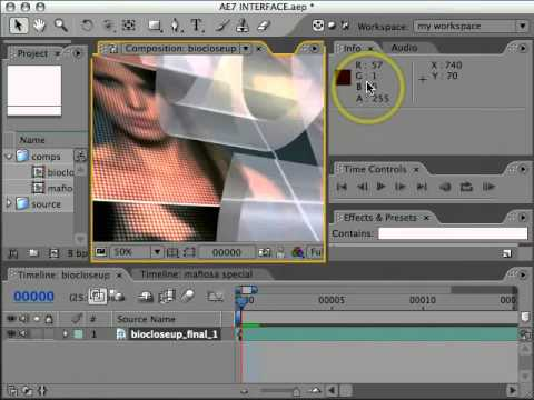 Adobe After Effects 7 Interface